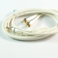 Choseal audiophile hifi Gold Plated 3.5mm Male to 2 RCA  bold white