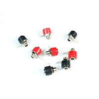 6pcs 4mm banana plug socket short panel copper terminal block Audio sockets