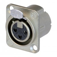 Neutrik NC3FD-LX XLR 3-Pin Female Chassis Panel Socket