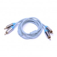 1m/1.5m VenTion HIFI Gold Plated 2 RCA Interconnects Audio Cable Pair Ice Blue