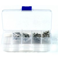 Metric M2.5 Stainless Steel Hex Socket Screws Kit 8kinds Length 4mm 6mm 8mm 10mm