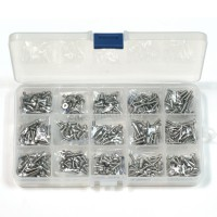 Metric M3 Stainless Steel Screws Kit 16 kinds Length 6mm 8mm 10mm 12mm