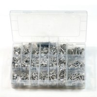 Imperial 8#-32 Stainless Steel Screws Kit 20kinds Length 3/8 1/2 5/8 3/4 1
