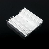 3x3inch Aluminum Alloy Heat Sink for 1W/3W/5W/10W LED Silver White