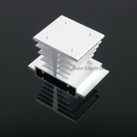 3x2inch Aluminum Alloy Heat Sink for 1W/3W/5W/10W LED Silver White