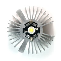 2pcs 2x0.9inch Round Sunflower Aluminum Alloy Heat Sink for 1W-5W LED Silver White