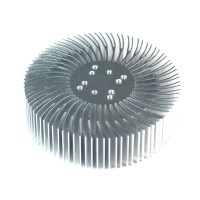 5pcs 3.5x1inch Round Spiral Aluminum Alloy Heat Sink for 1W-10W LED Silver White