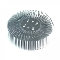 90x25mm Round Spiral Aluminum Alloy Heat Sink for 1W-10W LED Silver White