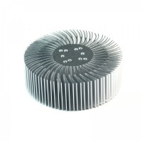 90x30mm Round Spiral Aluminum Alloy Heat Sink for 1W-10W LED Silver White