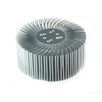 2pcs 3.5x1.5inch Round Spiral Aluminum Alloy Heat Sink for 1W-10W LED Silver White