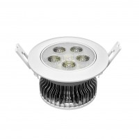 Ceiling light w heatsink and aluminum plate 5 LED panel 5W 15V 300mA Φ108*62mm