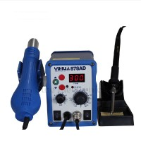 878AD SMD 2in1 110V Digital Soldering Rework Station Hot Air Gun Iron Welder ESD