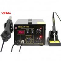 YIHUA 852D 220V Stazione Saldante SMD 2in1 Rework Station diaphragm pump version