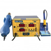 YIHUA 882D+ 110V Stazione Saldante 2in1 Rework Station Soldering Hot Air reworks