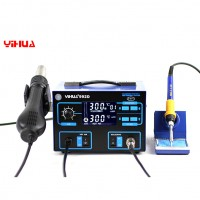 YIHUA 992D 110V Stazione Saldante SMD 2in1 Rework Station w Hot Air Gun Bracket