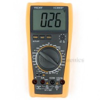 VICHY VC9808+ Digital Multimeter Inductance Res Cap Freq Temp DCV/A + Bag D0134