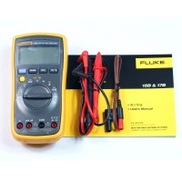 FLUKE 17B+ Digital Multimeter w/ Free Case Test Leads TL75