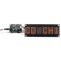 "1.2"" 6 digit 5X7 Red Dot Matrix Unit board"