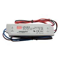 MW Mean Well LPV-35-5 LED Driver 30W 5V IP67 Power Supply  Waterproof