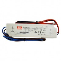 MW Mean Well LPV-35-36 LED Driver 36W 36V IP67 Power Supply  Waterproof