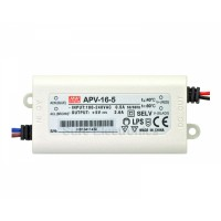 Mean Well APV-16-5 5V 2.6A Power Supply LED Driver Water & Dust-proof
