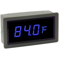 "0.56"" Digital Blue LED Automobile Thermometer Panel Meter Internal & External Probe"