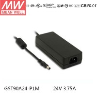 Mean Well GST90A24-P1M 24V 3.75A 90W Desktop Adapter Power Supply Charger Level VI energy efficient