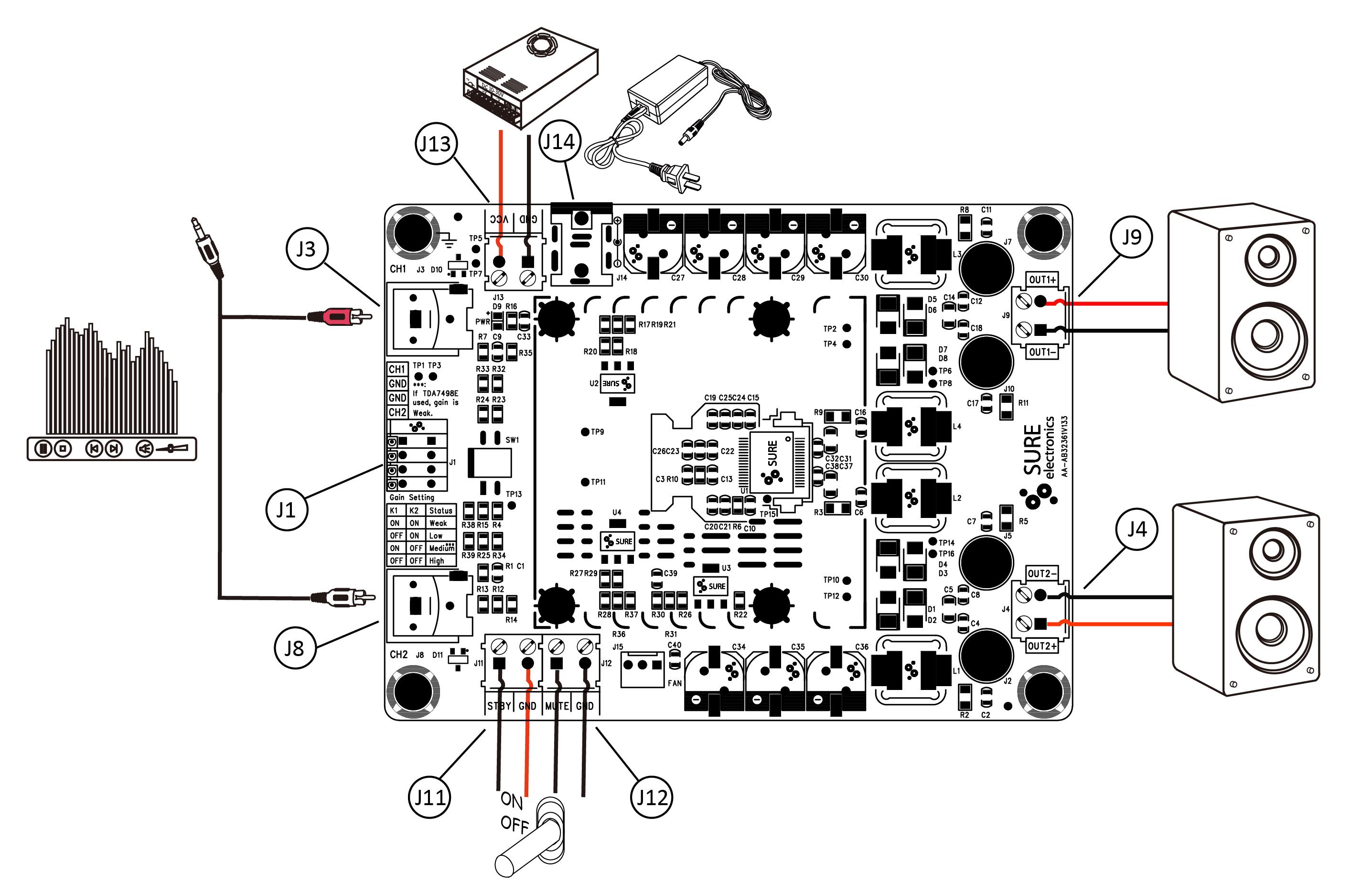 Sure Electronics Webstore 1 X 3000 Watt Class D Audio Amplifier 300 Board Tas5613 300w Mono Power Amp Model Selection Guide