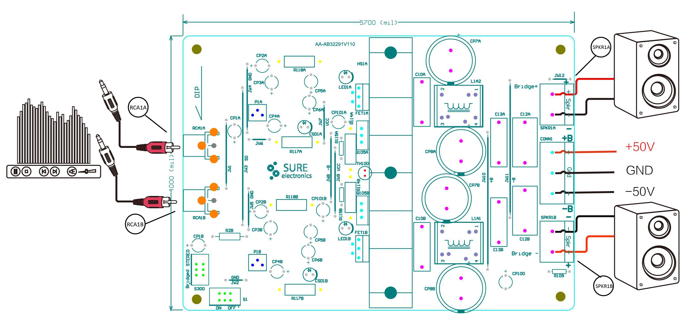 Sure Electronics Webstore 2 X 250watt Class D Audio Amplifier Board Wiring Diagram Single Chip 25 Watt Mono Classd Power Model Selection Guide