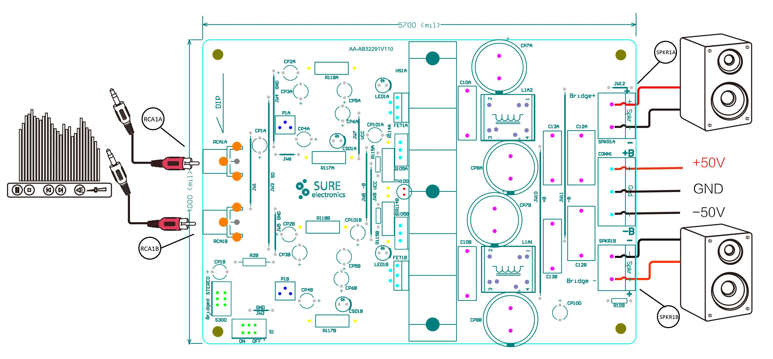 Sure Electronics Webstore 2 X 125 Watt Class D Audio Amplifier 300 Board Tas5613 300w Mono Power Amp Model Selection Guide