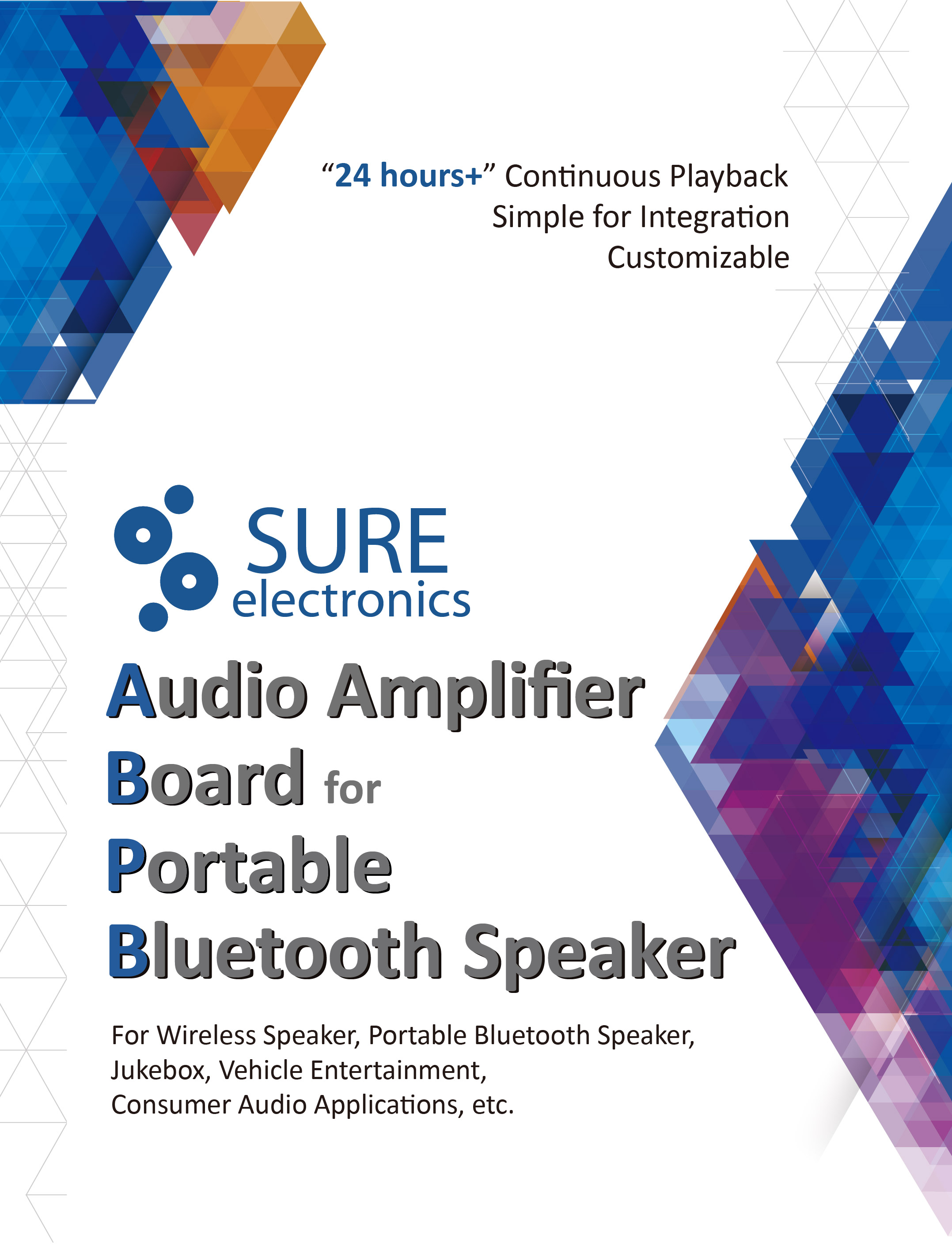Sure Electronics Webstore Portable Bluetooth Audio Amplifier Board 300 Watt Class D Tas5613 300w Mono Power Amp