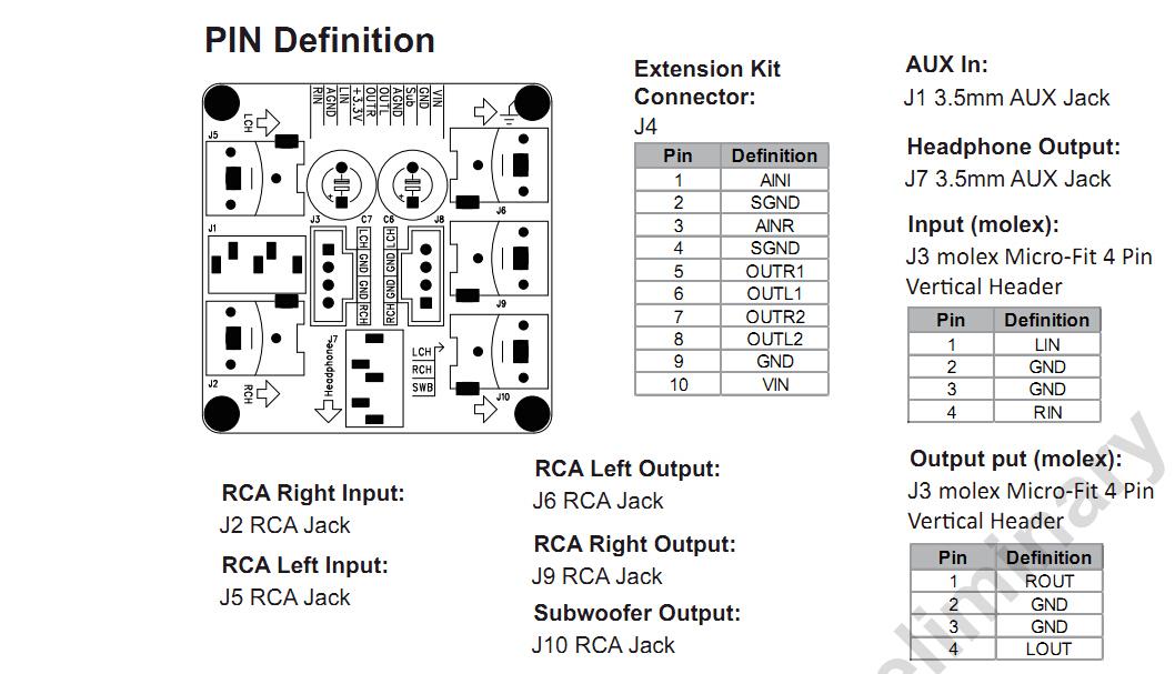 adau1701 audio digital signal processor diy 3in 2out
